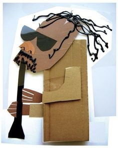 musician - fun idea of cardboard art. by paulaqwest