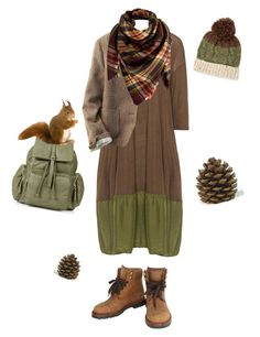 """Squirrel"" by gardenofroses on Polyvore featuring Privatsachen, Uniqlo, Peach Couture, Chanel and Topshop"