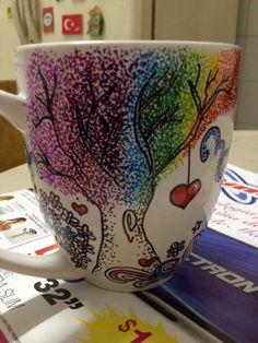 """Sharpie mug """"Live in color"""""""