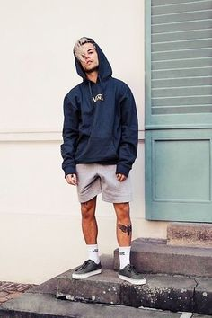 Get this look: More looks by Kevin Elezaj: lb.nu/kevinelezaj … Get this look: More looks by Kevin Elezaj: lb.nu/kevinelezaj Items in this look: Vans Sneakers, Vans Socks, H&M Sweatpants, Vans Sweater Vans Outfit Men, Socks Outfit, Vans Men, Vans Sneakers, Sneakers Fashion, Vans Socks, Mens Fashion Socks, Fashion Boots, Fashion Hoodies