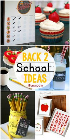 Back 2 School Ideas - includes teacher gifts, printables, and treats!! Check it out on { lilluna.com }