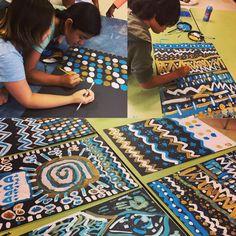 #teamwork #elementaryart #pattern #painting