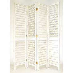 Have to have it. Riviera Adjustable Shutter Room Divider - 84 Inch - White - $532.41 @hayneedle