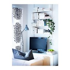 """ALGOT Wall upright/shelves - 33 1/2x7 7/8x33 1/8 """" - IKEA- For the shelves in front of my bed"""