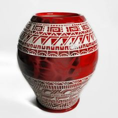 Wheel thrown, Chumash inspired vase.  Come check out the new work.