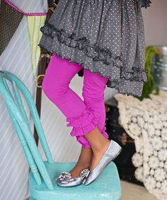 Orchid Double Ruffle Leggings - Toddler & Girls