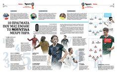 Layout, Word cup 2018 Russia, teams, qualifiers, newspaper Fileleftheros