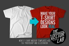 Men's T-Shirt Templates #02 by TheVectorLab on Creative Market