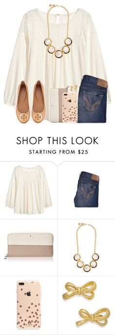 """""""Being On Here For A Year, I Feel Like I've Used Every Item On Here"""" by twaayy ❤ liked on Polyvore featuring H&M, Hollister Co., Kate Spade and Tory Burch"""