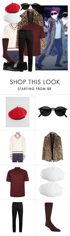"""""""~That~ Tae (태) outfit"""" by fangirl-living-with-mundanes ❤ liked on Polyvore featuring ASOS, Maison Kitsuné, Theory, Topman, Yves Saint Laurent, BOSS Hugo Boss, Massimo Matteo, kpop, bts and taehyung"""