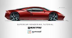 Supercar Rendering Tutorial Intro