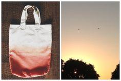 diy sunrise ombre canvas bag