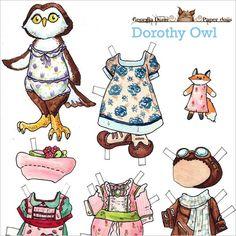 Dorothy Owl paper doll via www.myowlbarn.com