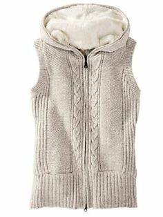 Women's Cabled Hoodie Vest | Sahalie