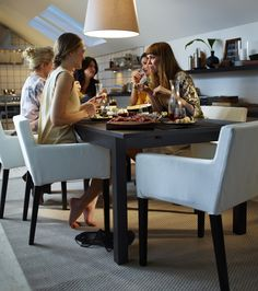 IKEA presents amazing dining area designs for 2013 that includes different ideas that can be put indoors or outdoors. Dining Room Furniture Design, Ikea Dining Room, Dining Area Design, Ikea Table, Living Room Chairs, Dining Chairs, Ikea Furniture, Furniture Ideas, Modern Furniture