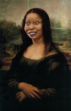 Bia Nicastro: The many faces of Monalisa - Woopy Mona Lisa La Madone, Mona Lisa Parody, Mona Lisa Smile, Whoopi Goldberg, American Gothic, Wow Art, Many Faces, Italian Artist, Photoshop Design