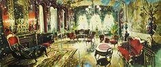 GAUCI, Gerard | Galerie de Bellefeuille Nostalgia Art, Galerie D'art, Illustration Art, Illustrations, Inspiring Art, Palace, Tapestry, Painting, Inspiration