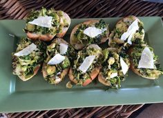 European dinner party - Brussels Sprout Crostini