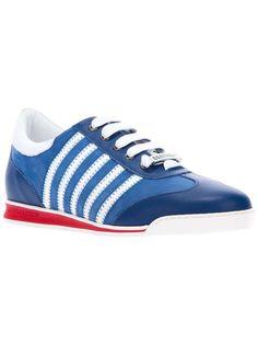 DSquared2 | striped trainer #dsquared2 #trainers