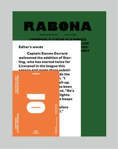 Logo and cover for Rabona magazine.