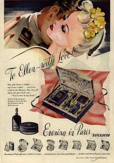 Evening in Paris vintage perfume ad