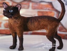 Made to Order Custom Needle Felted Cat / One of a Kind Cat or Kitten Sculpture / Memorial Felt Sculpture of Your Cat or Kitten by TheWoolenShed on Etsy