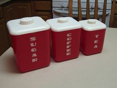 Vintage Canisters | Flickr - Photo Sharing!