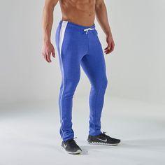 Gymshark Luxe Legacy Tracksuit Bottoms - Light Blue/White