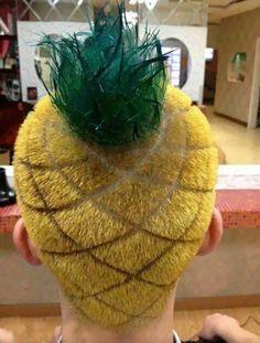 15 coiffures incroyables 15 coupes de cheveux dingues coiffures incroyables ananas