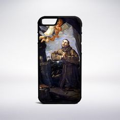 Guido Reni - Saint Francis In Prayer With Two Angels Phone Case – Muse Phone…