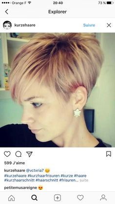 Likes, 4 Comments – Kurze Haare (Kurzhaarf… Short Pixie Haircuts, Cute Hairstyles For Short Hair, Short Hair Cuts For Women, Pixie Hairstyles, Short Hair Styles, Hairdos, Pixie Haircut Styles, Love Hair, Great Hair