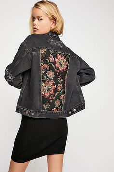 7d668a2667b9 Tapestry Denim Jacket | Free People Free People Jacket, Altered Couture,  Denim Patchwork,