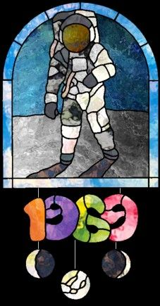 Chantal's Stained Glass Patterns ::: Moon Landing