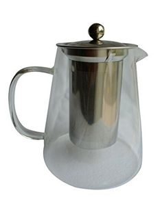 Basic Needs Glass Teapot with Infuser - Tea in a Mesh Filter Strainer for a Delicious Hot or Iced Cold Brewed Beverage Single Serving or in a Pitcher Over Warmers - http://teacoffeestore.com/basic-needs-glass-teapot-with-infuser-tea-in-a-mesh-filter-strainer-for-a-delicious-hot-or-iced-cold-brewed-beverage-single-serving-or-in-a-pitcher-over-warmers/