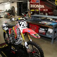 We checked in with Kristian Kibby, the Technical Director of the GEICO Honda squad, to see what they're up to this time of year. Motocross, Honda, Bicycle, Bicycle Kick, Bike, Trial Bike, Bicycles, Dirt Biking, Dirt Bikes