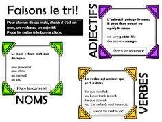La classe de Caro JEU - Tri des noms, adjectifs et verbes PRINTEMPS