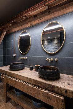 Indonesian House, Patio Deck Designs, Chalet Design, Restaurant Interior Design, Bath Design, Bathroom Interior, Small Bathroom, Bathroom Inspiration, Black Restaurant
