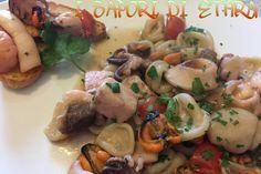 Pasta fresca dei Due Mari è un primo piatto caratteristico pugliese...., frutto della tradizionale cucina popolare marinara, che in sostanza faceva