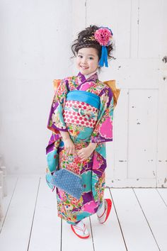 Kimono Fashion, Fashion Art, Kids Fashion, Japanese Costume, Japanese Kimono, Traditional Fashion, Traditional Dresses, Cute Little Girls, Cute Kids