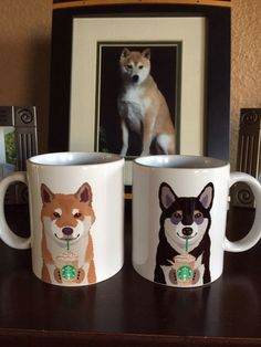 Coffee is better in a Shiba Inu cup.
