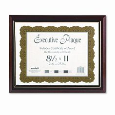 Executive Plaque Frame