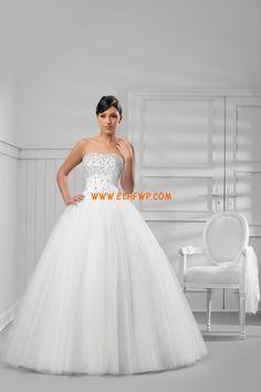 Chic & Modern Applikation Naturlig Billiga Bröllopsklänningar