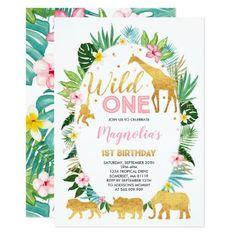 5 invitation cards Giraffe Jungle Green incl umschag Children Birthday Girl