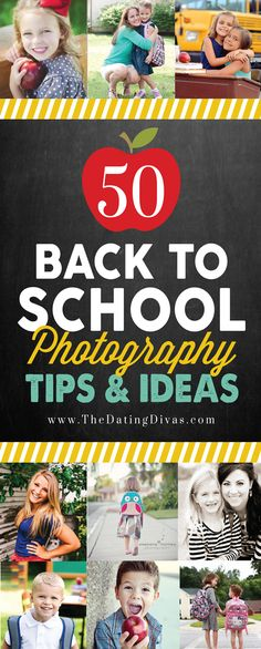 Sooooo many cute ideas for back to school photography ideas. Lots of inspiration including prop ideas, FREE printables, and senior photography tips and tricks! www.TheDatingDivas.com