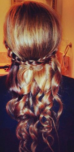 Love this. Maybe sometimes with flowers in the braid? HC