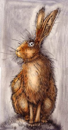 Sitting hare by Ian MacCulloch