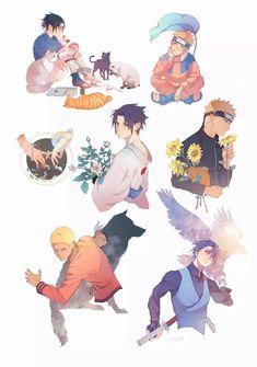 Sasunaru, Boruto, Naruto Uzumaki Shippuden, Madara Uchiha, Narusasu, Baby Sasuke, Naruto Y Sasuke, Naruto Cute, Naruto Funny