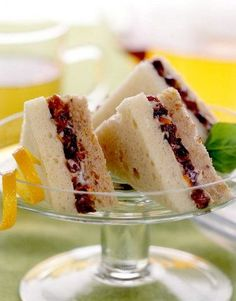 Sweet Tea Sandwiches: Recipe [recipe calls for dried California plums, however, dried Turkish apricots might also be good]