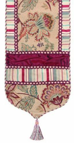 Jennifer Taylor 2606-603609 Table Runner, 16-Inch by 120-Inch, Cover 100-Percent Polyster by Jennifer Taylor. $131.17. With cord, braid and tassels. Home decor brings classic style and luxurious comfort to the home. Table runner cover 100-percent polyster. Jennifer Taylor Table Runner, 16-inch by 120-inch, Cover 100-percent polyster, with cord, braid and tassels, Classic Style. Save 47% Off!