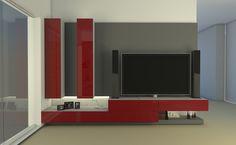 Modulus muebles de diseño, wall unit, Buenos Aires Lcd Unit Design, Tv Wall Design, Lcd Units, Rack Tv, Tv Wall Decor, Front Rooms, Living Room Tv, Luxury Interior Design, Tv Unit